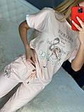 Женский летний костюм  (Турция); разм С,М,Л,ХЛ полномерные, 3 цвета, фото 6