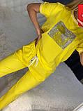 Жіночий літній костюм (Туреччина); розмір С,М,Л,ХЛ повномірні, 3 кольори, фото 2