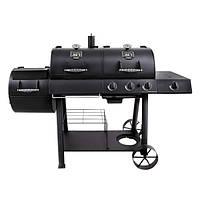 Комбінований гриль-коптильня Oklahoma joe's Longhorn Combo Black/Gas Smoker & Grill, фото 1