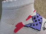 Набір 3 шт. Шкарпетки дитячі укорочені з малюнком бавовняні Bross кішечка принцеса, фото 2