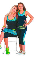 Детский комплект-двойка для девочек: бриджи и майка Suxe (Турция) sks20040