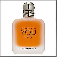 Giorgio Armani Stronger With You Freeze туалетная вода 100 ml. (Тестер Армани Стронгер Виз Ю Фриз)