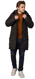 Чоловіча коричнева парку зимова з кишенями модель 13620 (ЗАЛИШИВСЯ ТІЛЬКИ 56(3XL))