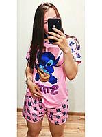 Пижама женская футболка и шорты Стич