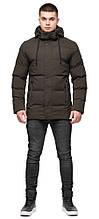 Тёплая зимняя мужская куртка цвета кофе модель 25280