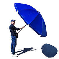 Зонт круглый 2.5 м для пляжа, торговый, садовый, с напылением и клапаном, плотная ткань, 10 спиц, чехол