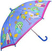 Зонт-трость облегченный детский полуавтомат AIRTON (АЭРТОН) Z1651-8 Цыпленок