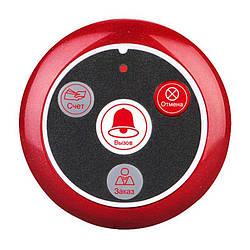 Кнопка виклику офіціанта бездротова з 4-ма кнопками Retekess T117 червона, росіяни підпису (рахунок, виклик,