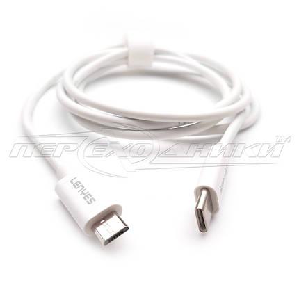 Кабель TYPE-C  to micro USB (хорошее качество), 1 м, белый, фото 2