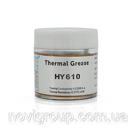 Паста термопровідна HY-610 10g, банку, Gold,> 3,05 W / m-K, <0.073 ° C-in2 / W, -30 ° ≈280 °, У в'язкість -1K