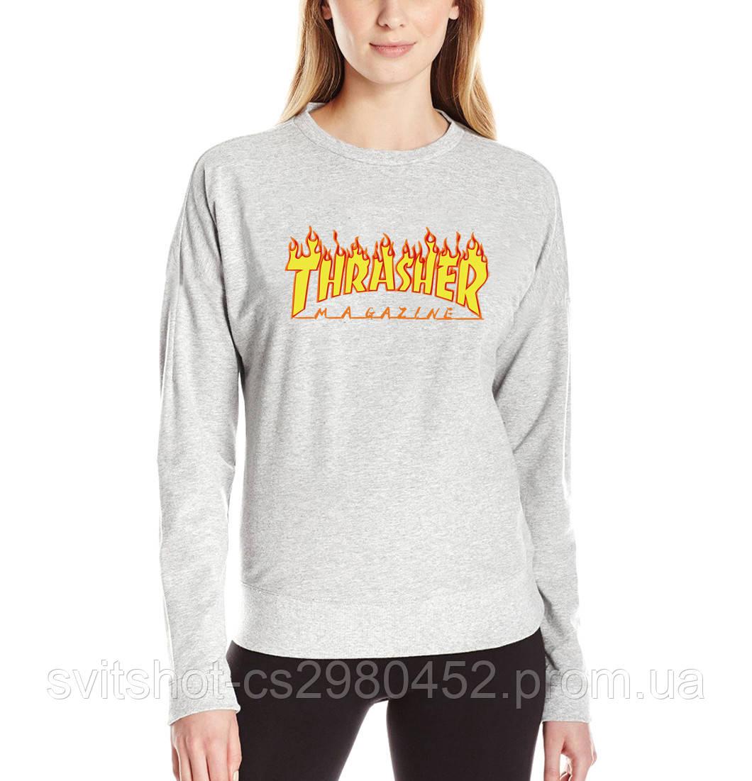 Свитшот Thrasher серый, размер S