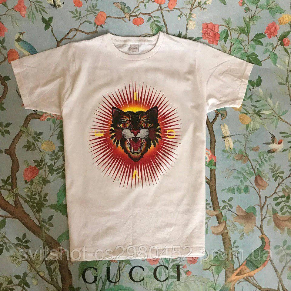 Футболка Gucci, кот Love, размер S