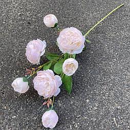 Ветка Роза пионовидная 7-ка 77 см. нежно розовый