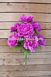 Искусственные цветы - Пион букет, 47 см