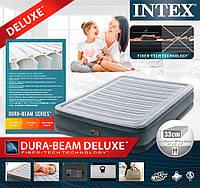 Надувная кровать- матрас Intex 67768 , встроенный электронасос. Полуторный 137 х 191 х 33