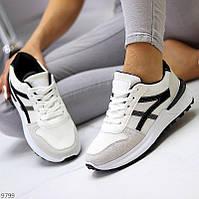 """Жіночі повсякденні кросівки Білі з чорним """"Gvaj"""", фото 1"""