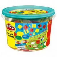 "Пластилин Play-Doh (Плей до) Ведёрко с формочками и 4 баночки теста ""Считалочка"" Hasbro (Хасбро)"