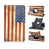 Чехол поворотный TTX 360° United States flag patern Series Case для Samsung Galaxy Tab 4 7.0 SM-T230 T231