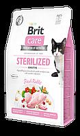 Корм для кошек Brit Care GF Cat Sterilized Sensitive (кролик), 2 кг