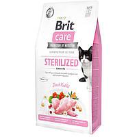 Корм для кошек Brit Care GF Cat Sterilized Sensitive (кролик), 7 кг