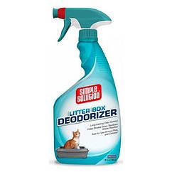 Дезодорирующее средство для чистки и устранения запахов в кошачьих туалетах Simple Solution 945 мл