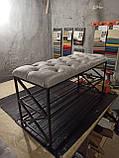Банкетка-Пуф для обуви Loft, Обувница в коридор, фото 2