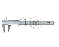 "Штангенциркуль ШЦ-II-250 0,05  кл. ""А"" (губки 250мм)"