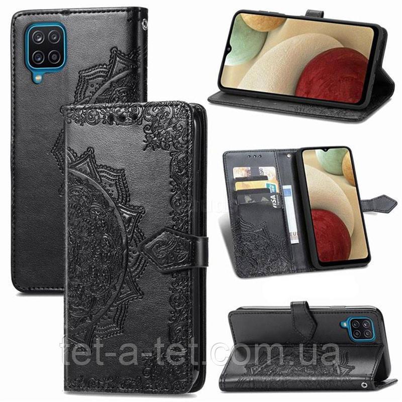 Шкіряний чохол (книжка) Art Case з візитницею для Samsung Galaxy A12 - Чорний