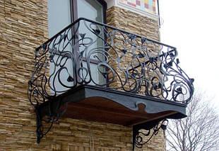 Кованые металлические балконные ограждения
