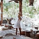 Бавовняна пляжна сорочка жіноча вільного крою з мереживом (р. S-L) 6825727, фото 7