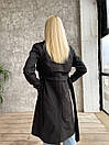 Тренч коттоновый под пояс с ремешками на рукавах женский (р. 42-48) 17pt189, фото 4