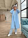 Демісезонне пальто з кашеміру на запах під пояс з відкладним коміром (р. 42-46) 1702190, фото 3