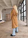 Демісезонне пальто з кашеміру на запах під пояс з відкладним коміром (р. 42-46) 1702190, фото 8