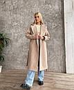 Демісезонне пальто з кашеміру на запах під пояс з відкладним коміром (р. 42-46) 1702190, фото 9