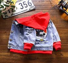 Абсолютный тренд! Крутого качесва стильная джинсовка для маленьких модников, качественный 100% джинс