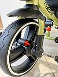 Трехколесный велосипед Turbotrike М 5447 складной и легкий хаки, фото 5