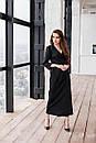 Длинное платье на запах с поясом с рукавом 7/8 нарядное (р. S-L) 60py2354, фото 3