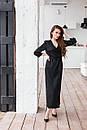 Длинное платье на запах с поясом с рукавом 7/8 нарядное (р. S-L) 60py2354, фото 5
