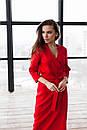 Длинное платье на запах с поясом с рукавом 7/8 нарядное (р. S-L) 60py2354, фото 9