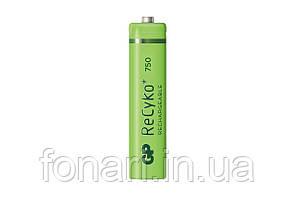 Аккумулятор Ni-Mh GP ReCyko+ AAA (75AAAHCE-U2 R03), 750mAh