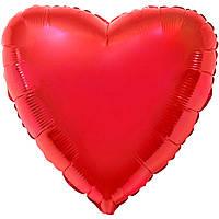"""Фольгированный воздушный шар Flexmetal Сердце Красное без рисунка Металлик  32"""" 79 см"""