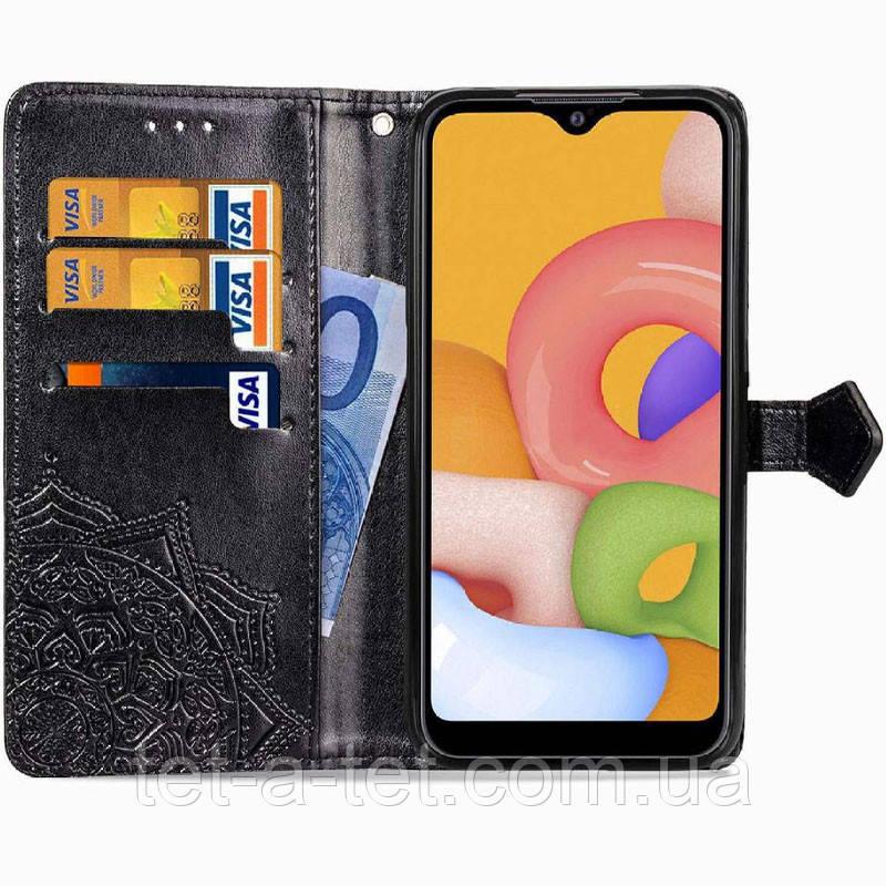 Шкіряний чохол (книжка) Art Case з візитницею для Xiaomi Readmi 9C - Чорний