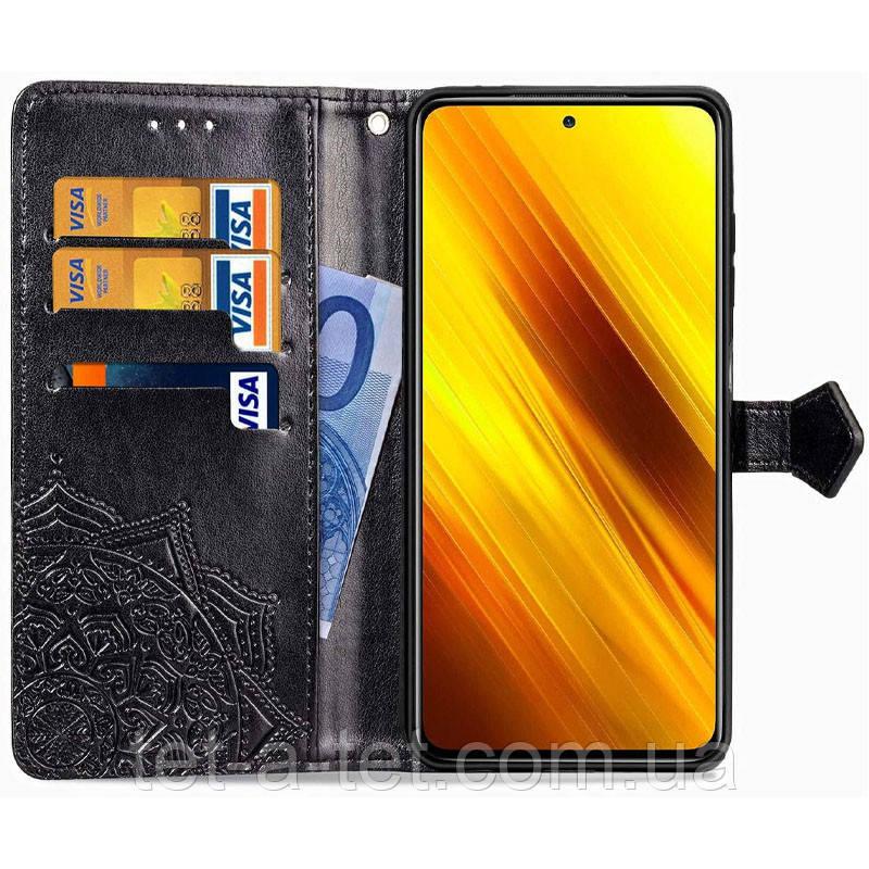Шкіряний чохол (книжка) Art Case з візитницею для Xiaomi Readmi Note 10 - Чорний