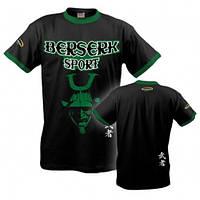 Мужская футболка - одежда на каждый день Besrserk Sport черный/зеленый