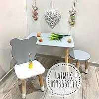 Детский столик и стул Мишка (детский стульчик, детская мебель,стульчик мишка)