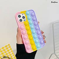 ХИТ! Чехол антистресс Pop it для iPhone 12 mini / 12 / 12 Pro / 12 Pro Max