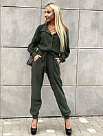 Женский стильный комбинезон с длинным рукавом, фото 1