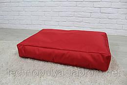 Бескаркасный лежак для собак Beans Bag из ткани Оксфорд стронг 90х60 см с чехлом Красный (hub_nxMM31100)