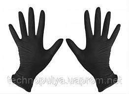Рукавички нітрилові Medicom L неопудрені текстуровані 50 пар Чорні (MAS40000)