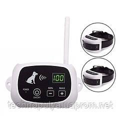 Беспроводной электронный забор для собак Pet KD-661 с 2-мя ошейниками Белый (100574)